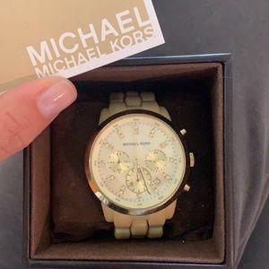 Michael Kors light tortoise watch